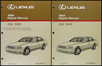 1994 Lexus GS 300 Repair Manual Original 2 Volume Set