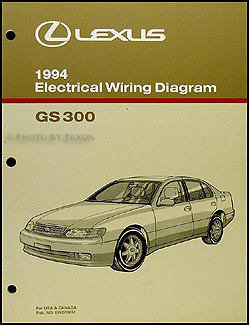 1994 Lexus GS 300 Wiring Diagram Manual Original
