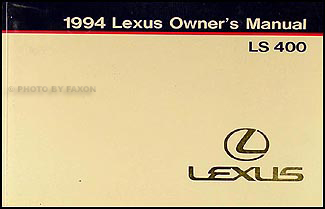 1994 Lexus LS 400 Owners Manual Original