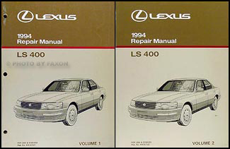 1994 Lexus LS 400 Repair Manual Original 2 Volume Set