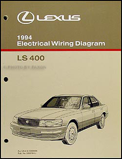 1994 Lexus LS 400 Wiring Diagram Manual Original
