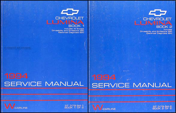1994 Chevrolet Lumina Car Shop Manual Original Set