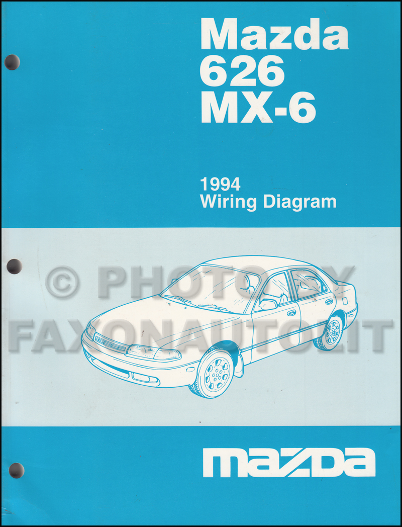 1994 Mazda 626 and MX-6 Wiring Diagram Manual Original