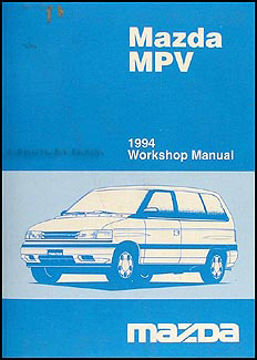 1994 Mazda MPV Repair Manual Original