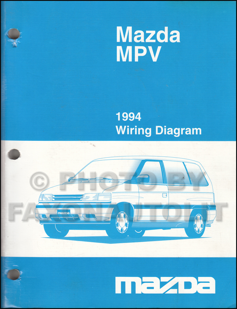 1994 Mazda MPV Wiring Diagram Manual Original
