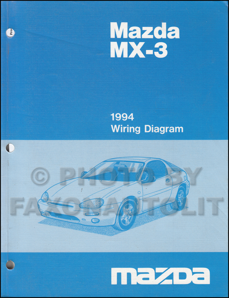 1994 Mazda Mx 3 Wiring Diagram Manual Original Toyota Mr2
