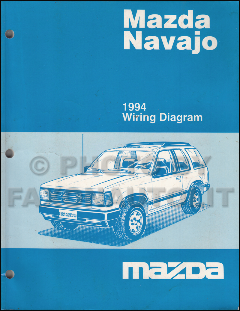 1994 Mazda Navajo Wiring Diagram Manual Original
