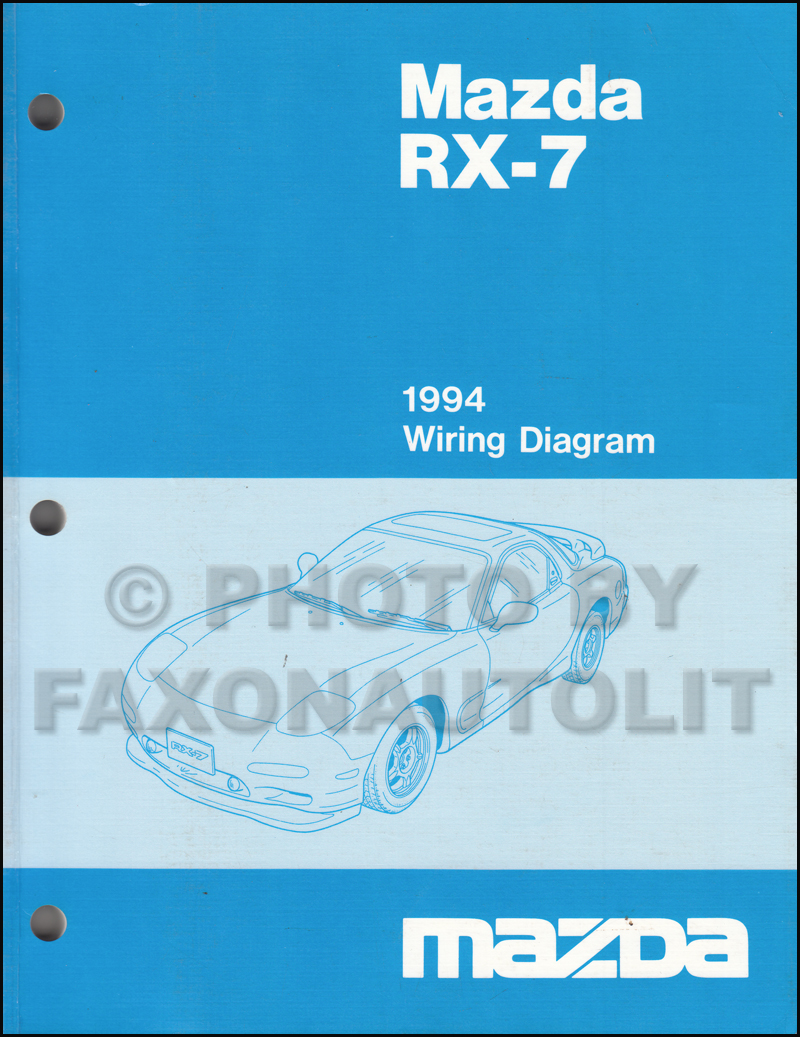 1994 Mazda Rx 7 Body Electrical Troubleshooting Manual Original 1984 Engine Diagram Wiring Rx7