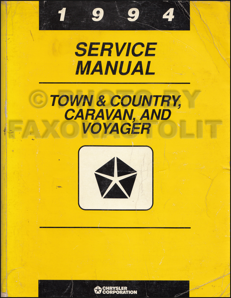 1994 Caravan, Town & Country, Voyager Shop Manual Original