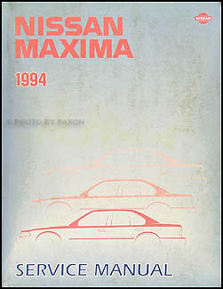 1994 Nissan Maxima Repair Manual Original
