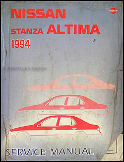 1994 Nissan Stanza Altima Repair Manual Original