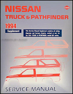 1994 nissan truck and pathfinder wiring diagram manual supplement rh faxonautoliterature com 1994 nissan pickup starter wiring diagram 1994 nissan hardbody radio wiring diagram