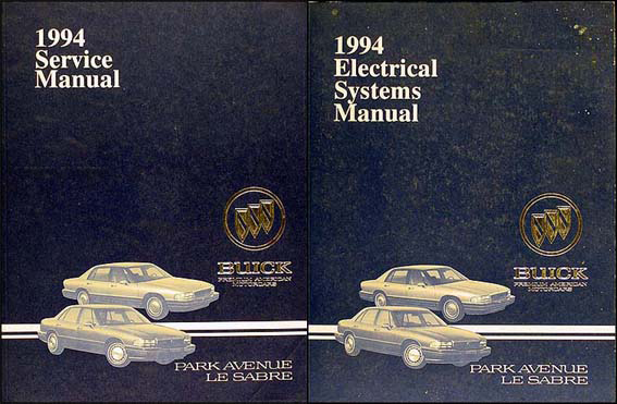 1994 Buick Park Avenue, Ultra and Le Sabre Repair Shop Manual Set Original