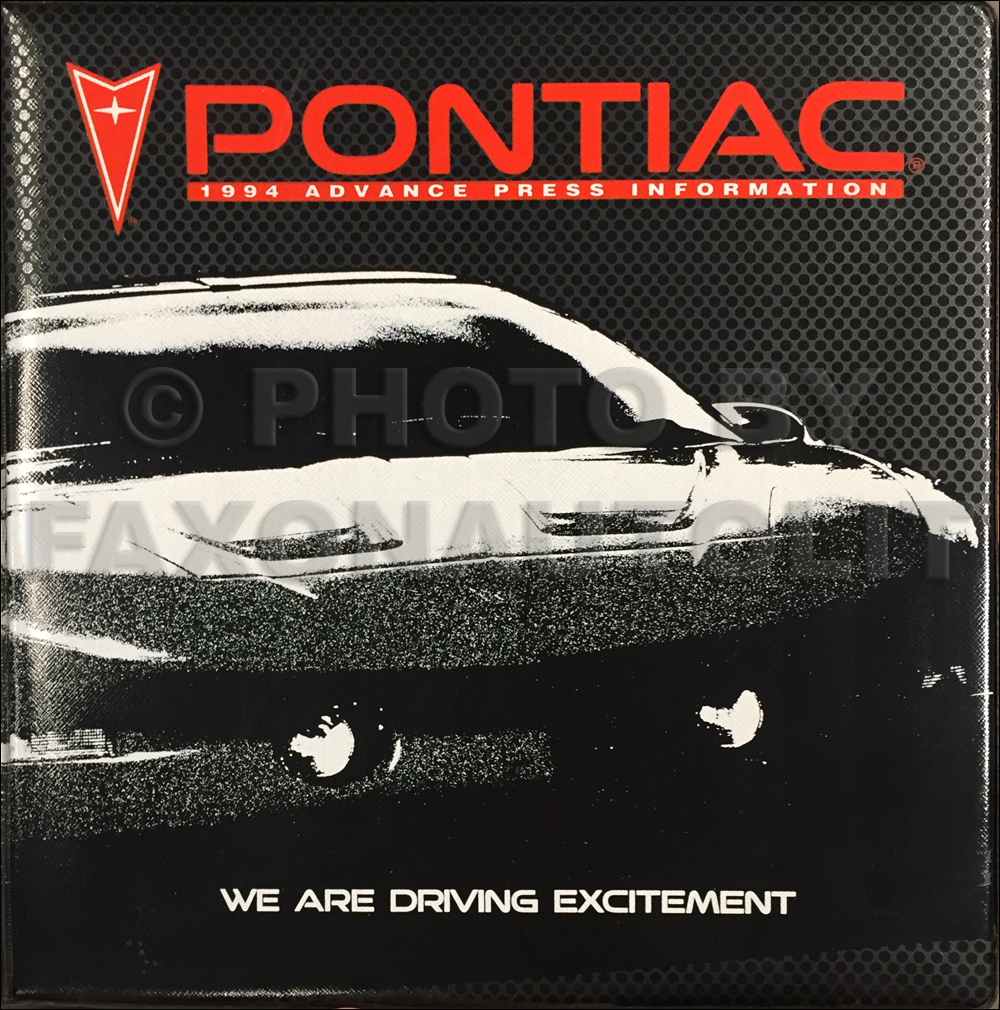 1994 Pontiac Technical Press Kit Original