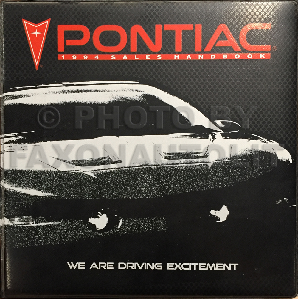 1994 Pontiac Data Book and Color and Upholstery Dealer Album
