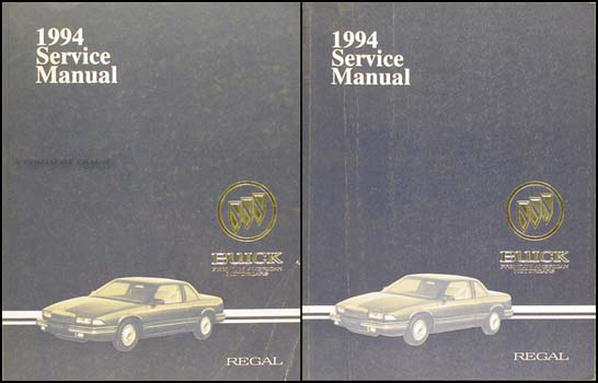 1994 Buick Regal Shop Manual Original Set