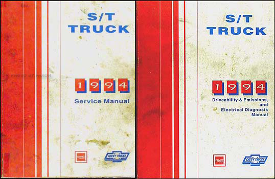 1994 S-10 Pickup Blazer Sonoma Jimmy Repair Shop Manual Set Chevy GMC Truck
