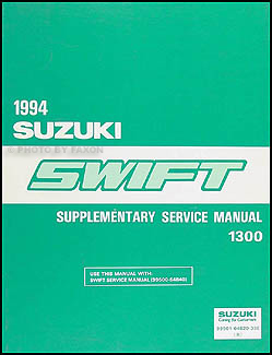 1994 Suzuki Swift 1300 Repair Manual Supplement Original