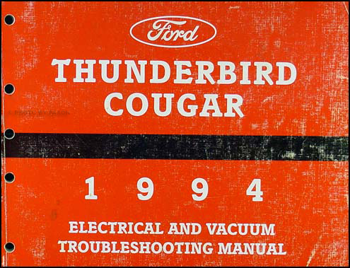 1994 Ford Thunderbird Mercury Cougar Electrical Troubleshooting Manual