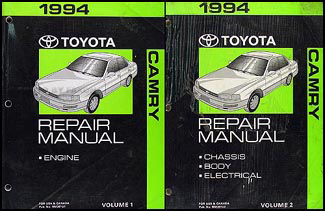 1994 Toyota Camry Repair Manual Original 2 Vol. Set
