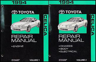 1994 Toyota Celica Repair Manual Original 2 Volume Set