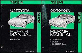 1994 Toyota MR2 Repair Manual Original 2 Volume Set