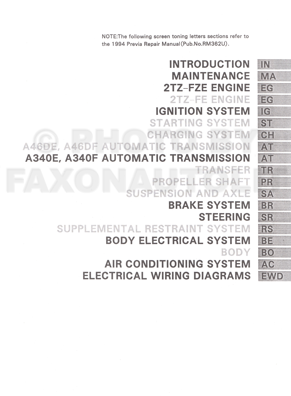 Toyota Previa Transmission Diagram Estima Wiring Download Van Repair Shop Manual Original Supplement 1000x1361 Image