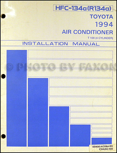 1994 Toyota T100 A/C Installation Manual Original
