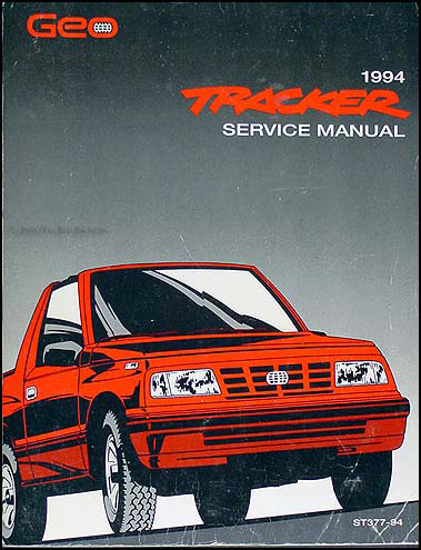 1994 Geo Tracker Shop Manual Original