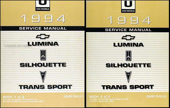 1994 Lumina Van Silhouette Trans Sport Repair Shop Manual Original Set