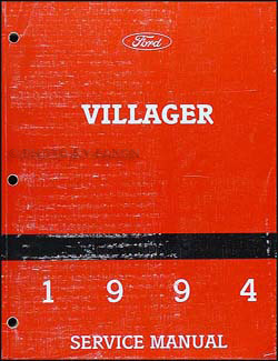1994 Mercury Villager Repair Manual Original