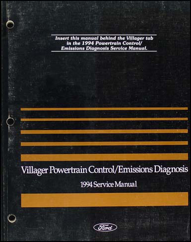 1994 Mercury Villager Engine & Emissions Diagnosis Manual