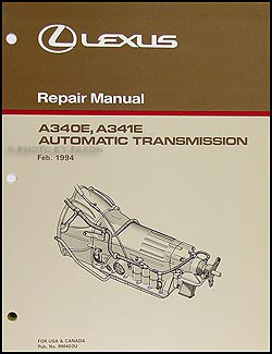 1995-2000 Lexus GS, LS, SC Automatic Transmission Overhaul Manual GS