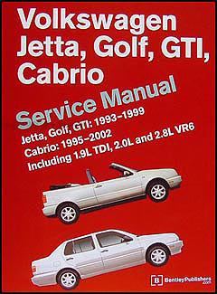 1995-2002 VW Jetta, Golf, GTI, Cabrio Bentley Repair Manual