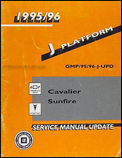 1995-1996 Cavalier Sunfire Convertible Top Repair Shop Manual Supplement