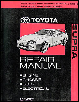 1995-1996 Toyota Supra Repair Manual Original