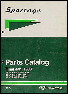1995-1997 Kia Sportage Parts Book Original