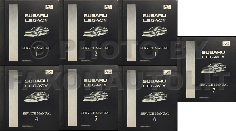 1995-1997 Subaru Legacy Repair Manual 7 Volume Set Original Binders