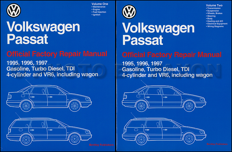 1999-2005 VW Passat Bentley Repair Manual 2 Vol. Set
