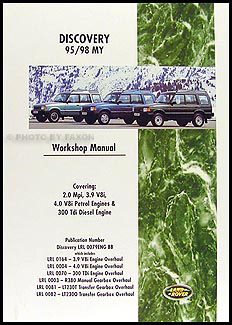 1995-1998 Land Rover Discovery Repair Manual Reprint