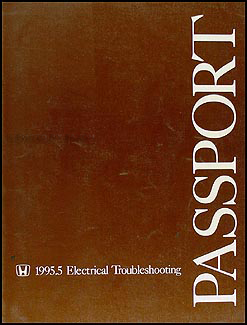 1995.5 Honda Passport Electrical Troubleshooting Manual Original