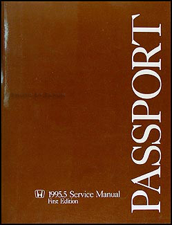 1995.5 Honda Passport Repair Manual Original