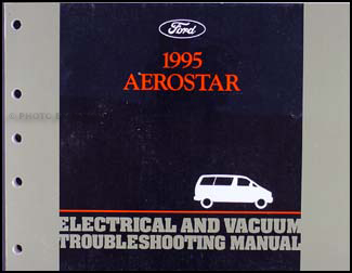 1995 Ford Aerostar Electrical & Vacuum Troubleshooting Manual Original