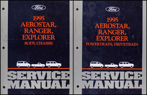 1995 Ford Ranger, Aerostar, Explorer Repair Shop Manual Set Original