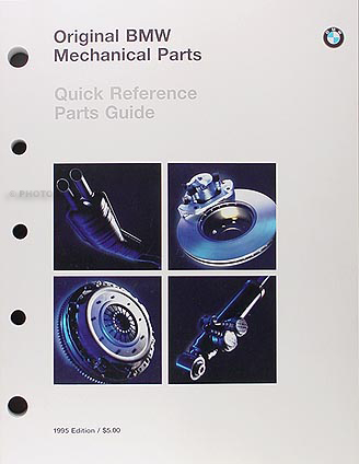 1985-1995 BMW Original Mechanical Parts Catalog -- All Models