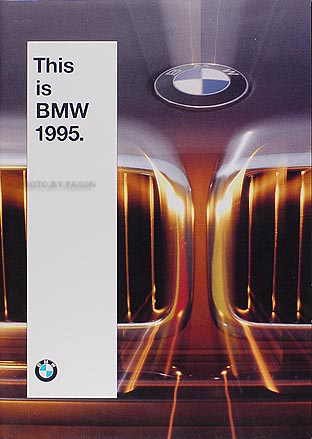1995 BMW Sales Brochure Original--All Models