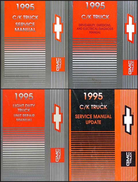 1995 C/K Truck Repair Shop Manual Original Set Pickup Suburban Tahoe Yukon