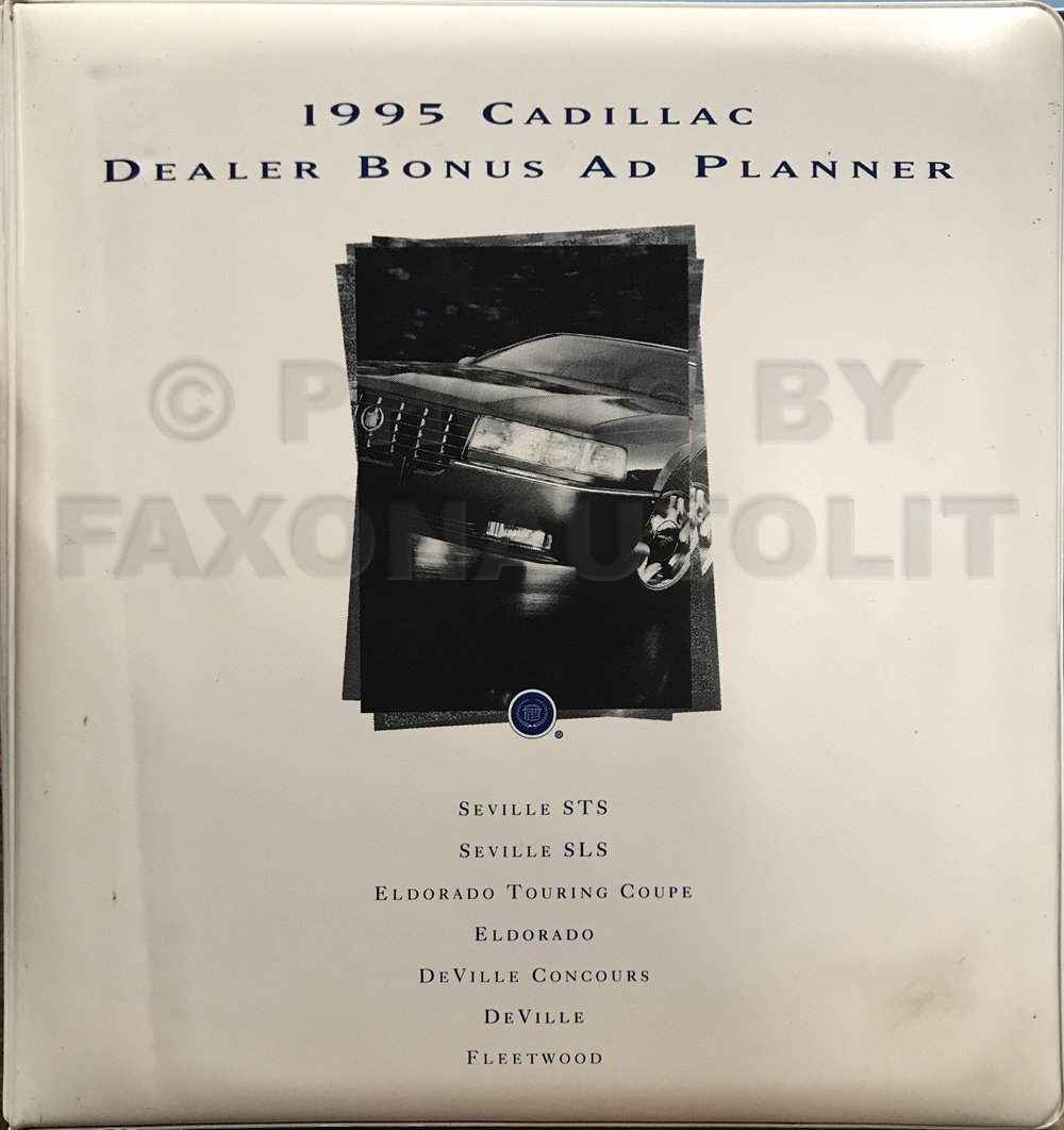 1995 Cadillac Dealer Advertising Planner Original