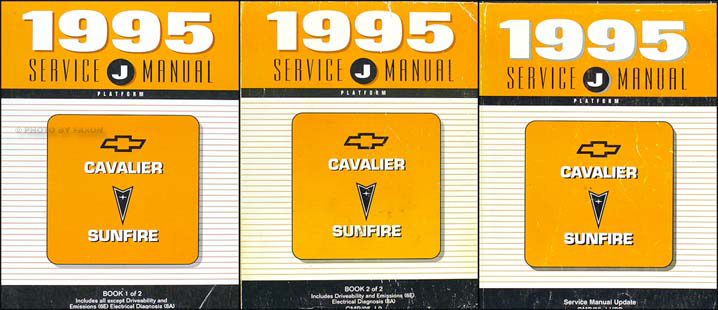 1995 Cavalier & Sunfire Shop Manual Original Set with Update