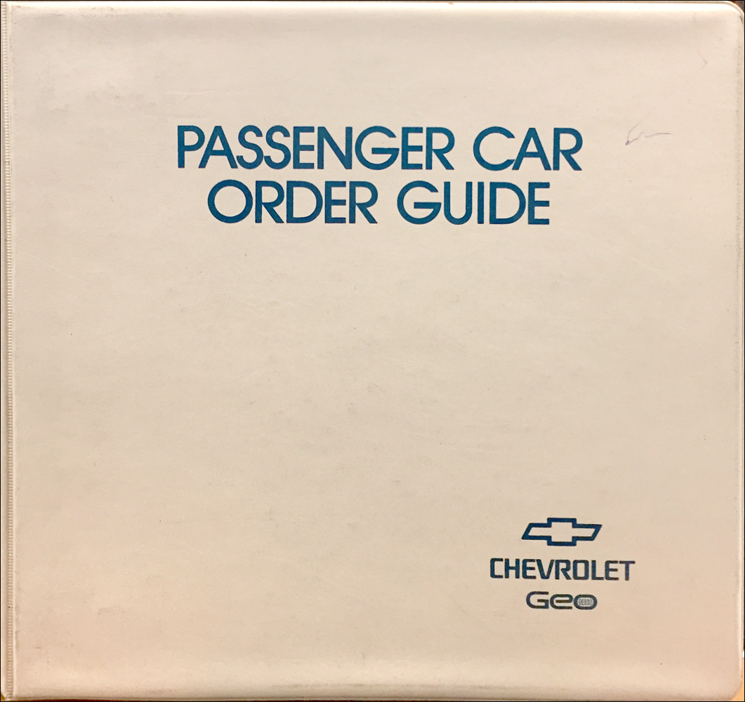 1995 Chevrolet Order Guide Dealer Album Original